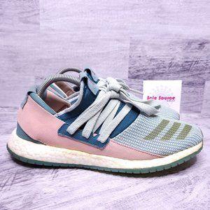 Adidas Pure Boost Running Sneaker Green Pink Women's sz 9